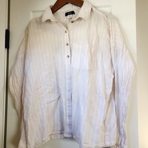Urban Outfitters Pinstripe Button Down Blouse